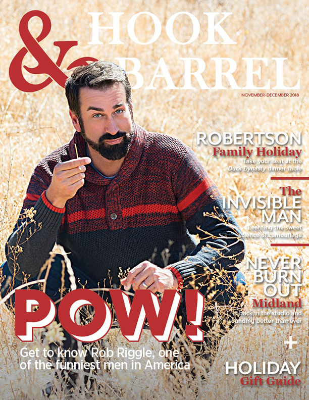 Hook and Barrel Magazine Rob Riggle Cover November December 2018 Issue