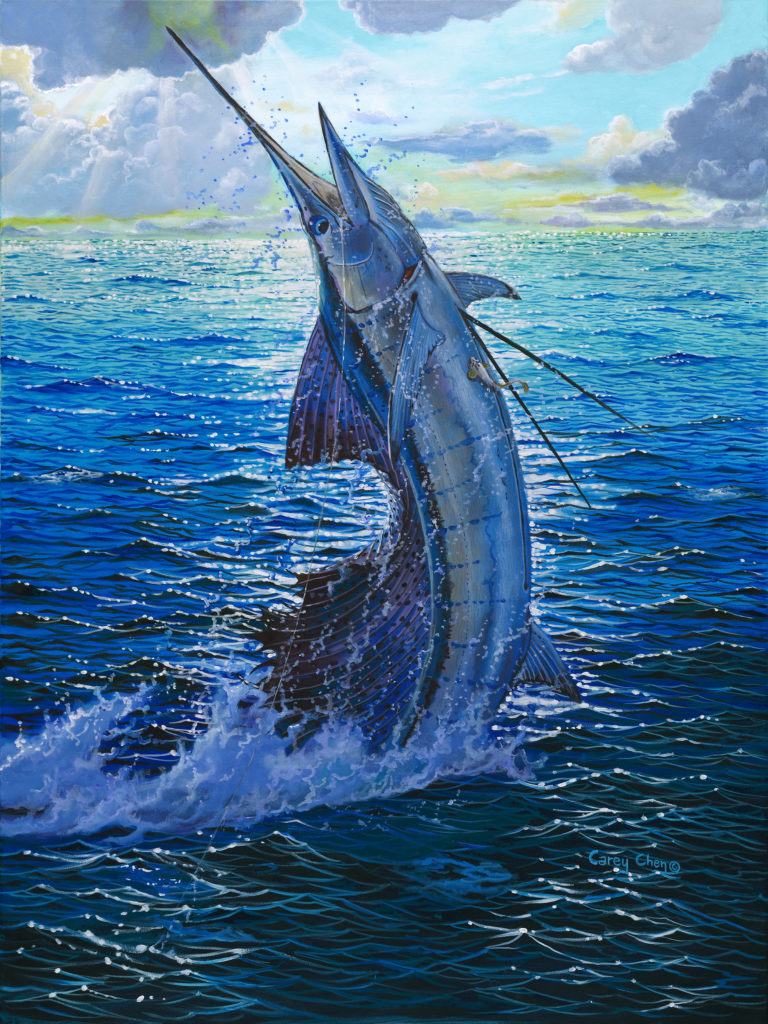 marine art fish painting carey chen pic 3